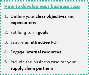 Develop your Business case