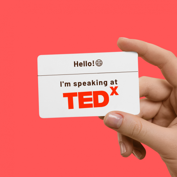 Hello! I'm speaking at TEDx